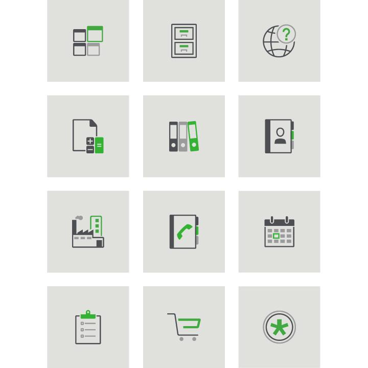 Icons Unternehmenssoftware