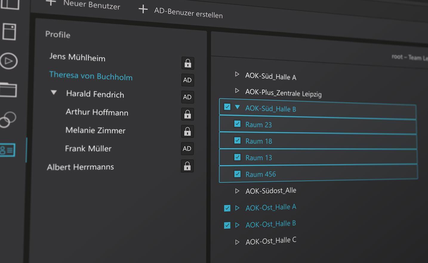Ausschnitt Benutzerprofil DisplayOP