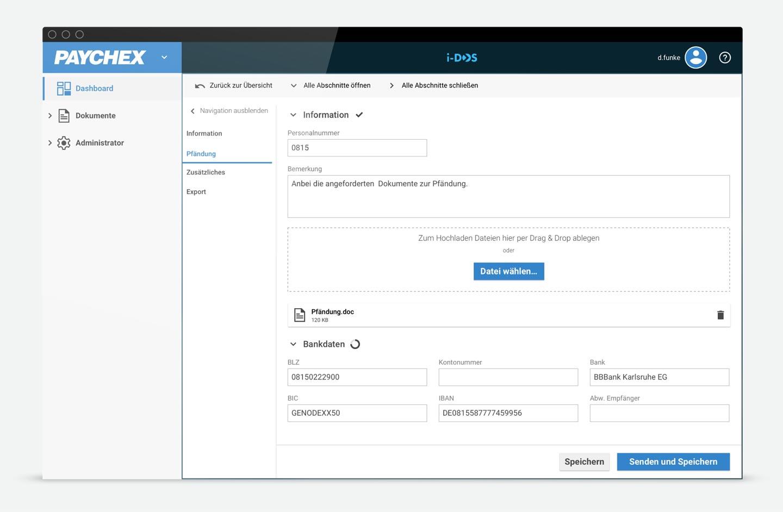 Datei-Upload HR Portal