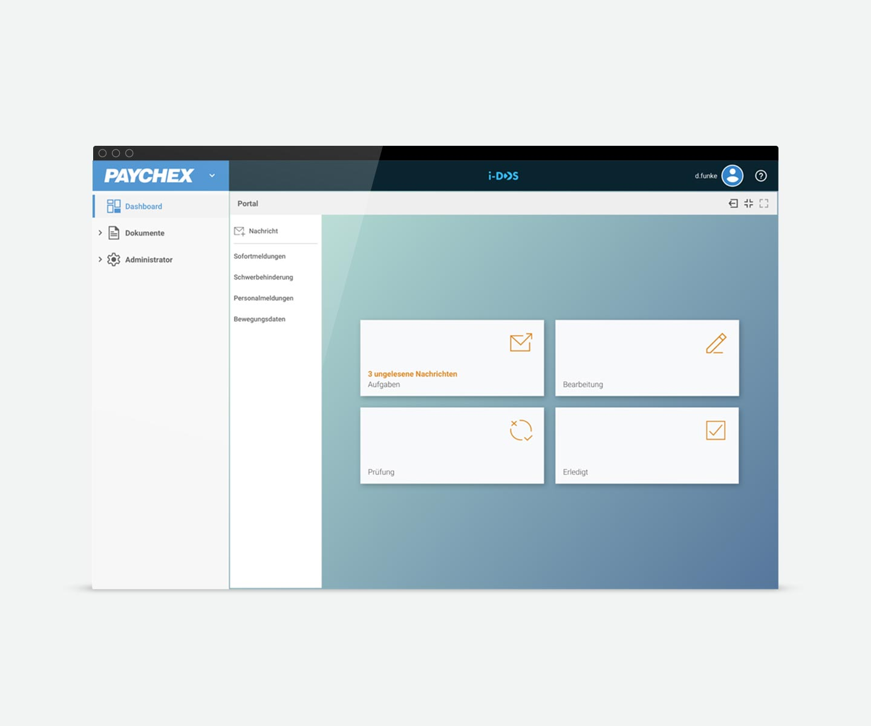 Paychex HR Portal Dashboard